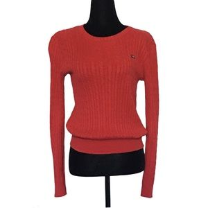 Ralph Lauren cable knit crewneck sweater red M